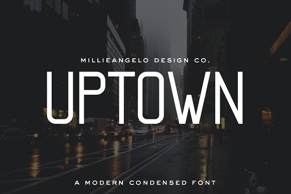 MDC Uptown A Modern Condensed Font