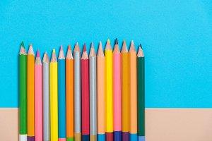 color pencil on color paper