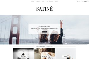 "WordPress Theme ""Satine"""