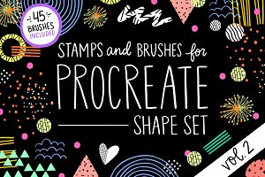 Procreate Stamp Shapes Set Vol.2