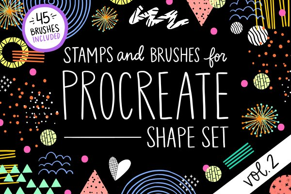 Add-Ons: Positively Present -  Procreate Stamp Shapes Set Vol.2