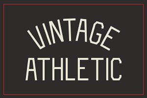 Vintage Athletic - Block Typeface