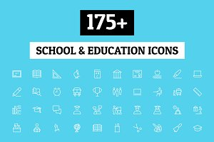 175+ School and Education Icons