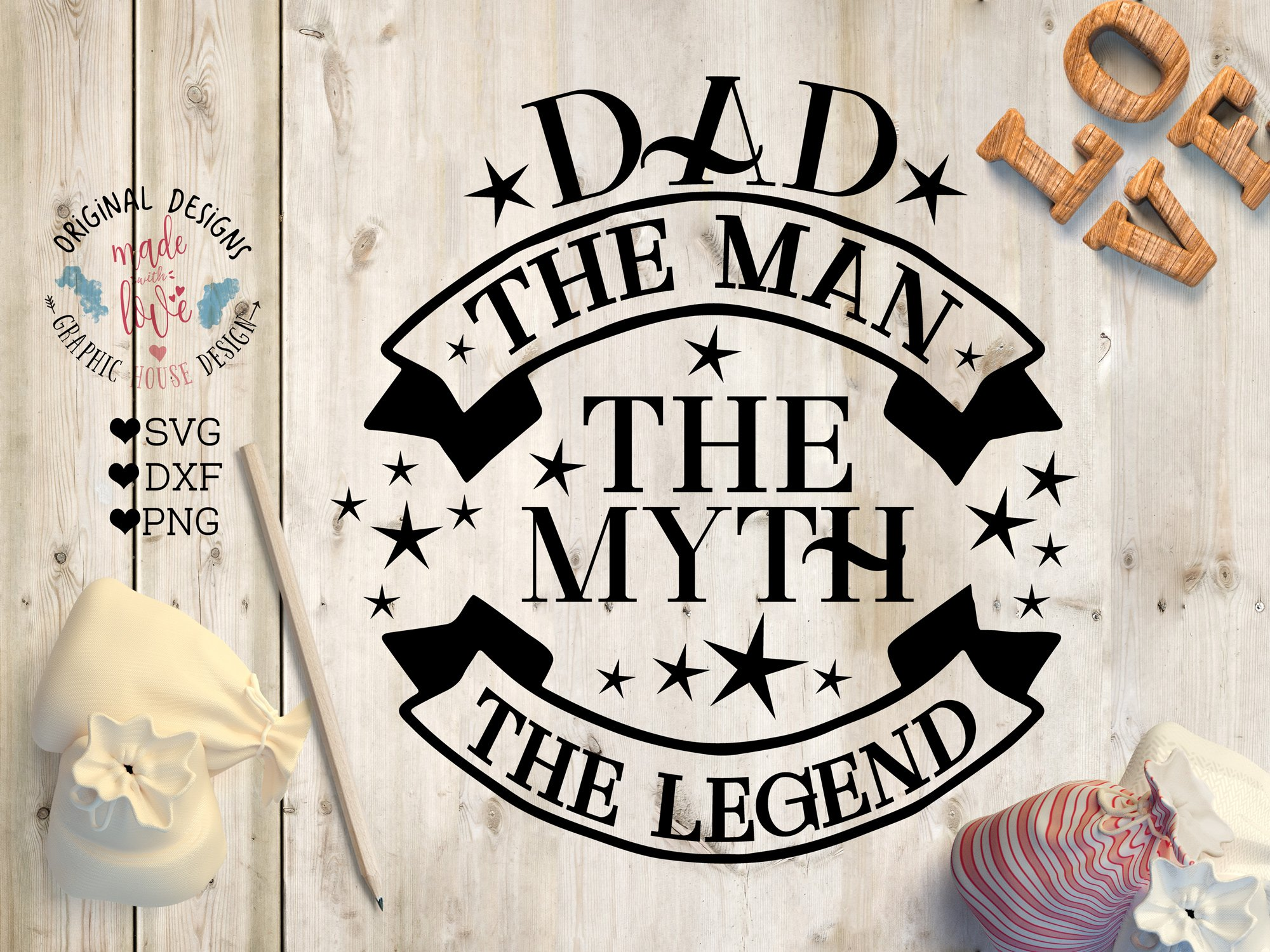 Dad the man the myth the legend illustrations creative market publicscrutiny Gallery