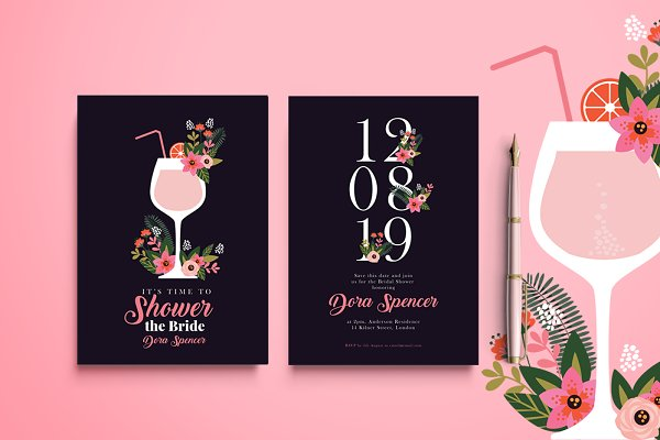 Invitation Templates: Werlang Paper - Shower the Bride Invitation