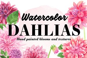 Watercolor Dahlia Kit