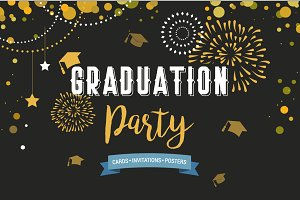 Graduation-invitations, card, poster