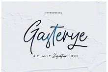 New Font_Gasterye Script by Ferdiansyah - in Script Fonts