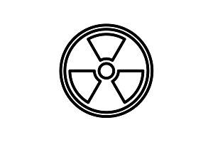 Web line icon. Radiation hazard