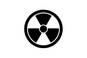 Web icon. Radiation hazard black