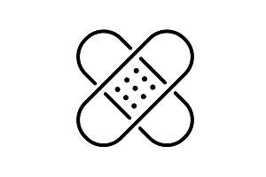 Web line icon. Adhesive plaster