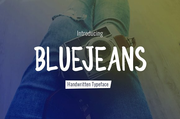 BlueJeans Typeface in Display Fonts