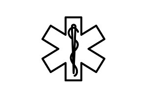 icon. Medicine (ambulance) emblem