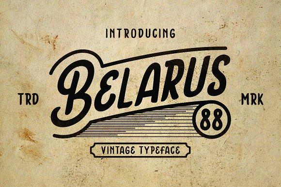 Belarus Tyepface in Display Fonts