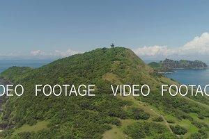 Lighthouse in cape engano . Philippines, Palau island.