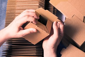 Lot of carton boxes, package