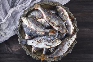 fresh peeled fish