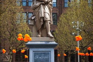 The statue of Rembrandt, Amsterdam