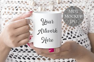 Mug Mockup - crotchet top