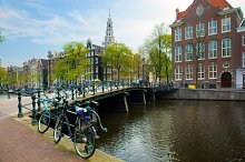 Old town canal, Amsterdam, Holland