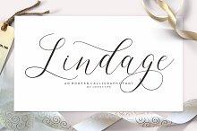 Lindage Script by joss type in Script Fonts