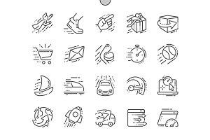 Speed Line Icons