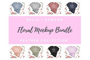 Floral Bella Canvas Mockup Bundle