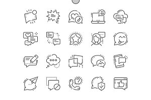 Messages Line Icons