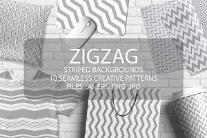 Zigzag seamless geometric patterns