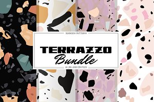 Terrazzo Seamless Patterns Bundle