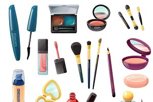 Ladies cosmetics accessories set