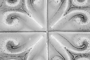 Vintage Tile Background Black White