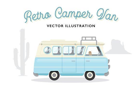 Retro Camper Van Vector