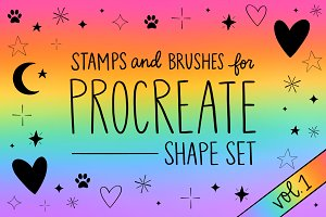 Procreate Stamp Shapes Set Vol.1