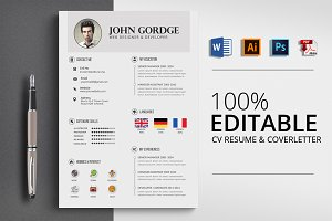Professional CV Resume Word Template