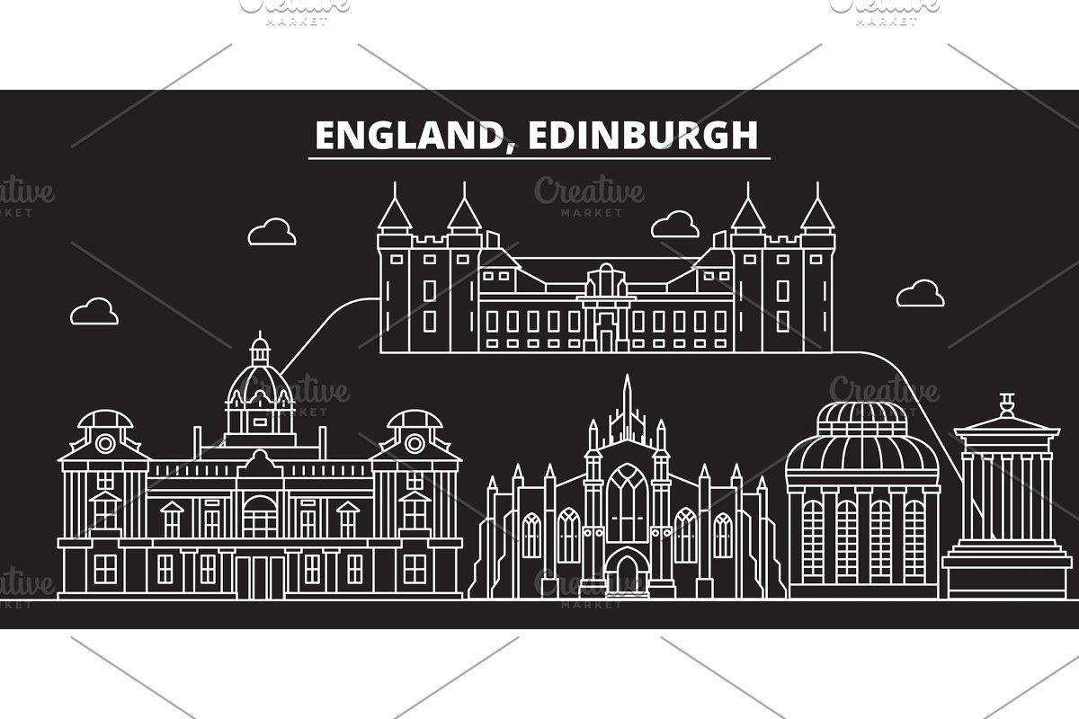 Save edinburgh silhouette skyline