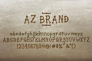 AZ Brand Opentype Font