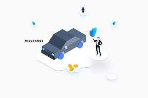 Car Insurance Isometric Graphic