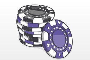 Stack of Gambling Chips