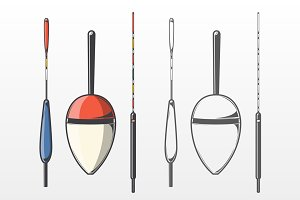 Set of Fishing Floats