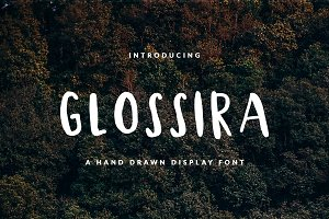 Glossira Font for Header & Text