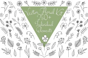 Vector Floral Kit - 250+ Elements