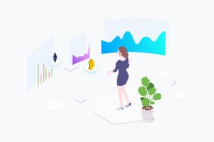 Exchange Cryptocurrency Isometric