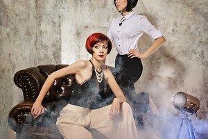 Two fashion girls