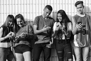 Group of school friends
