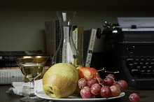 Fruit & Wine Still Life