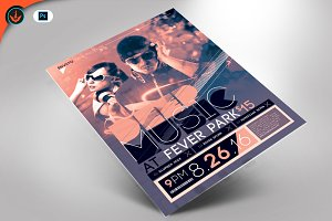 Deep Music DJ Flyer Template