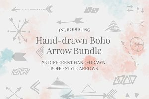 Hand-drawn Boho Arrow Bundle