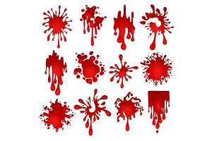 Blood blots set