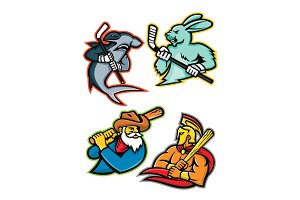 Baseball and Ice Hockey Team Mascots